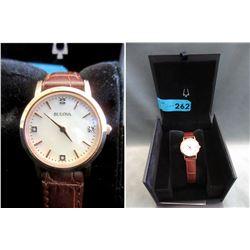 New-In-Box Ladies Bulova 4-Diamond Watch