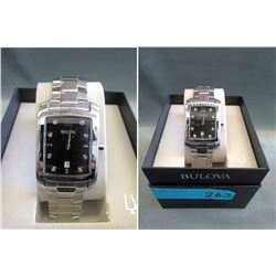 New-In-Box Mans Bulova 8-DiamondWatch