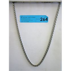 "26"" Italian .925 Silver Figaro Style Necklace"
