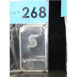 1Oz Scotia Bank .999 Silver Bar