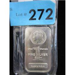 1 Oz Morgan Head .999 Silver Bar