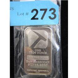1 OzPanAmerican .999 Silver Bar