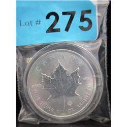 2014 Canada Maple Leaf .9999 Silver 1 Oz Coin