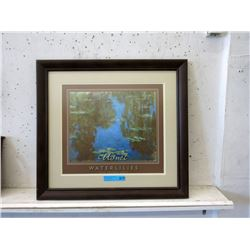 "Framed Monet ""Waterlilies"" Print"