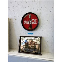 1 Tin & 1 Mirrored Coca-Cola Tray