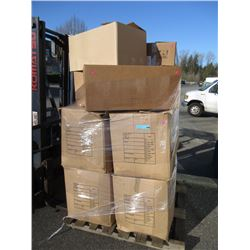 Skid of Assorted Boxed Storage Locker Goods