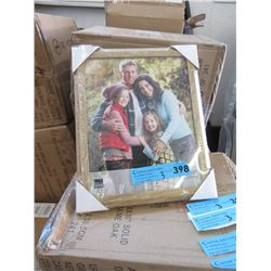 "3 Boxes of 12 New 8"" x 10"" Oak Picture Frames"