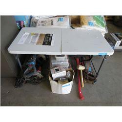 Adjustable Height Folding Table