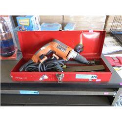 Ridgid Electric Drill & Files in Tool Box