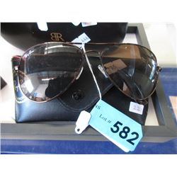 New Ray Ban Aviator Sunglasses & Case - Amber Lens