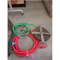 Air Hose, Electrical Cord & Metal Measure