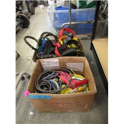 2 Boxes of Assorted Ropes, Straps & Cable