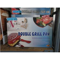 2 New Non Stick Double Grill Pans