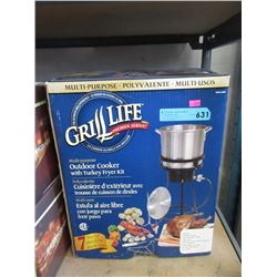 Outdoor Cooker with Turkey Fryer Kit