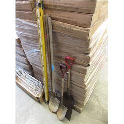 Surveyor's Stick & Shovels