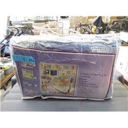 4 New 9 Piece Crib Bedding Sets
