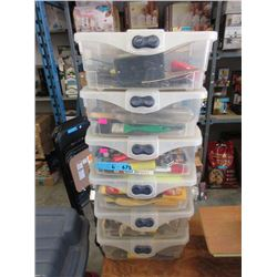 6 Totes of Assorted Shop Gear