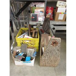 3 Container Lot of Assorted Tiling & Other Tools