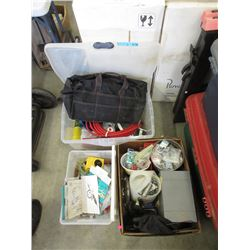 3 Containers of Assorted Tools & Fasteners
