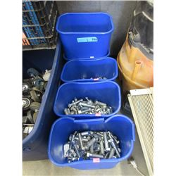 "5 Containers of 5"" Bolts with Nuts"