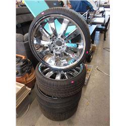 4 Lexani 735/30ZR20 Tires on Chrome Rims