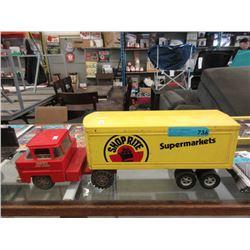 """1960s Marx Private Label """"Shop-Rite"""" Truck"""