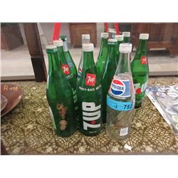 11 Glass 750ml Pop Bottles