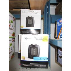 3 Small Ceramic Heaters - Store Returns