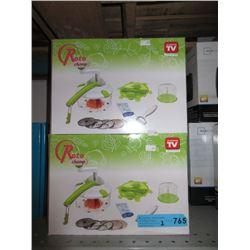 2 New Roto Champ Vegetable Slicers