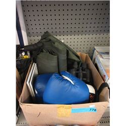 Hip Waders, Binoculars & Boxing Gloves