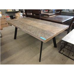 New LH Imports Wood Top Dining Table