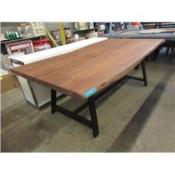New LH Imports Live Edge Bowtie Table