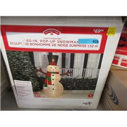 "60"" Pop Up Snowman - Store Return"
