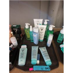 12 Assorted Vichy Cleaners & Lotions