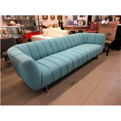 8 Foot Blue Fabric Sofa - Floor Sample