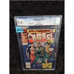 "Graded 1990 ""Damage Control #4"" Marvel Comic"