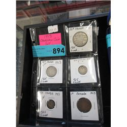 1913 Canadian 5 Piece Coin Set