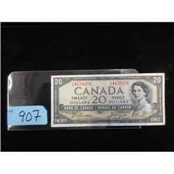 1954 Canadian Twenty Dollar Bill