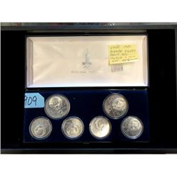 1980 USSR Moscow Olympic Proof 90% Silver Coin Set