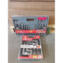 New Pit Bull Punch & Chisel Set & Hex Key Set