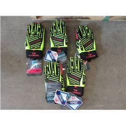 6 New XL RazorBack Polar Gloves