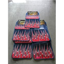 5 New 4 Piece Flame Car Mat Set