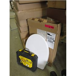 2 New Toilet Seats & Partial Stanley Tool Set