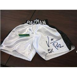 """Autographed Vinny """"Pazman"""" Paz Boxer Shorts"""