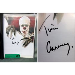 """Tim Curry Signed 8"""" x 10"""" """"Pennywise"""" Photograph"""