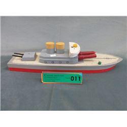 1940s Wood Keystone US Cruiser Ship