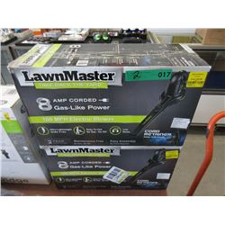 2 LawnMaster 8amp Electric Blowers - Store Returns