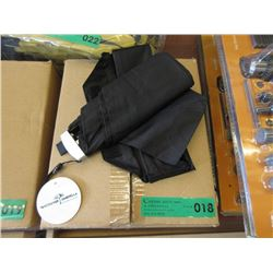 Case of 12 New Compact Folding Umbrellas - Black