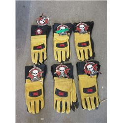 6 Pairs of New Anarchy Welding Gloves