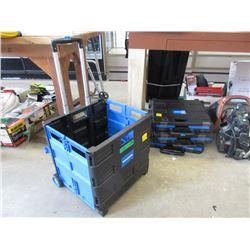 4 Toolmaster Folding Utility Boxes- Store Returns
